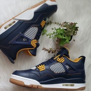 Air Jordan Retro 4 Dunk from Above Navy Sneakers